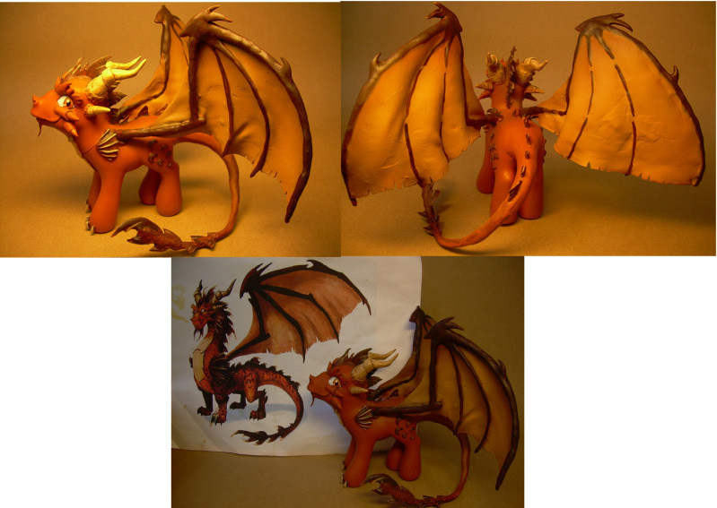 Ignitus dragon custom  pony by Hatsetsut