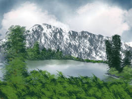 Mountain, Lake, and Forest by malwallace123