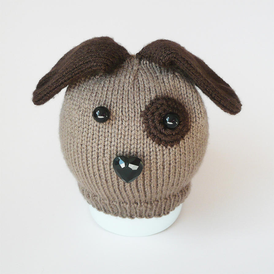 Knitting Pattern Hat Dog : Baby knitted dog hat by bedtimeblues on DeviantArt
