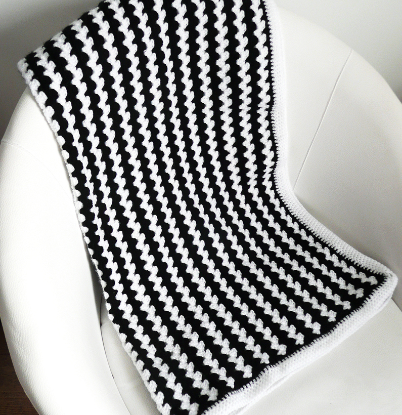 Crochet Blanket Black And White Black And White Crochet Baby