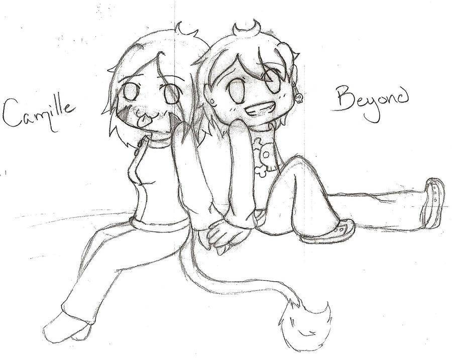 chibi couple :pc: by Slushy-the-kitty on DeviantArt