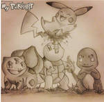 Kanto Starters with Pikachu