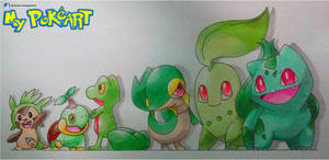 Grass Starters by Height by mypokeart
