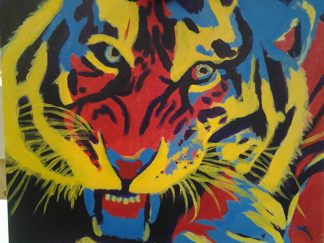 Tiger Pop Art Pop Art Tiger by Ppieking