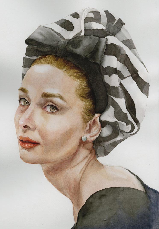Watercolor Portrait by harsh2art