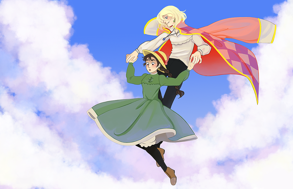 Howl and Sophie by Gollyzilla