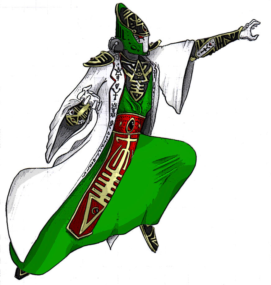 Eldar Farseer Cartoon Style by Asurael-Returns