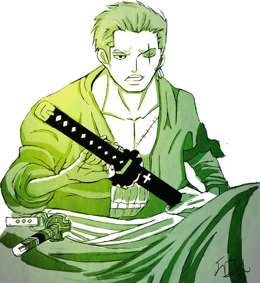 zoro one piece two years later by FDevil555 on DeviantArt