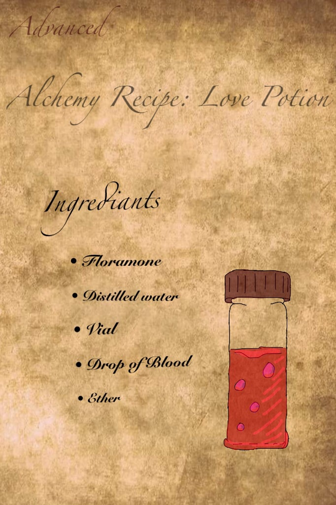 Advanced Alchemy Love Potion By Arcaneathenaeum On Deviantart
