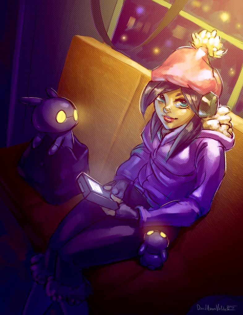 Game Boy Girl by DavidValdez