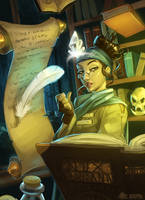 Scholar and Wizard by DavidValdez