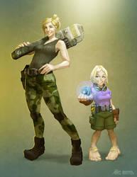 Erin and Ellen by DavidValdez