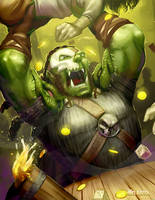 Orc Fighter Gark Raowser by DavidValdez