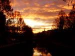 The gold sunrise