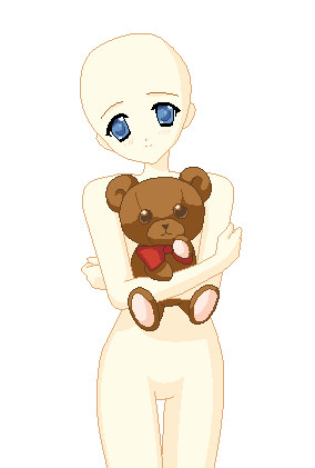 Teddy Bear Base by 333KittyLover333 on DeviantArt