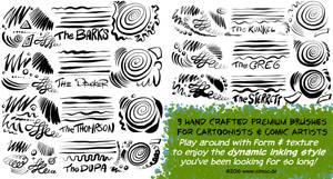 Procreate Comic and Cartoon Ink Set 2