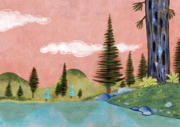 Art Lozzi Cartoon Background Study in Procreate by georgvw