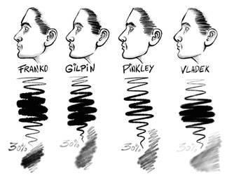Procreate INK + SHADING Brushes (Dirty Dozen Set) by georgvw