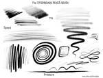 Procreate STORYBOARD PENCIL Brush - Sample Strokes