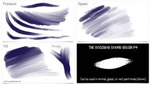 Procreate 4: New ROSSBOB ROUND Oil Painting Brush