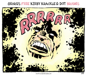 FREE Kirby Krackles + Dot Brushes for Procreate by georgvw