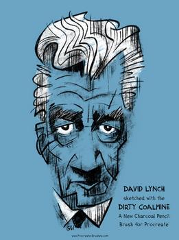 New Procreate Charcoal Pencil Brush: David Lynch