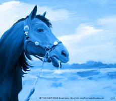Blue Horse - Procreate WET OIL PAINT MIXER Demo