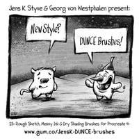 JensK DUNCE Comic Brushes for Procreate
