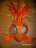 Goldfish wearable art mask by JenniferStedmanArt