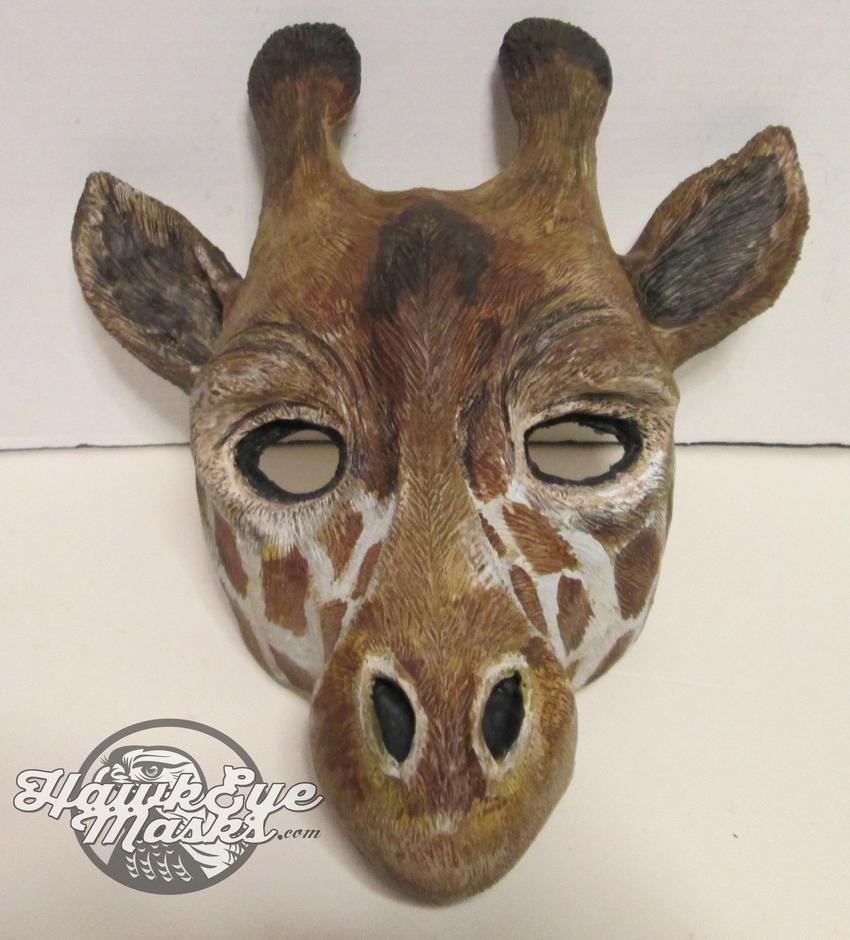 Giraffe mask by JenniferStedmanArt