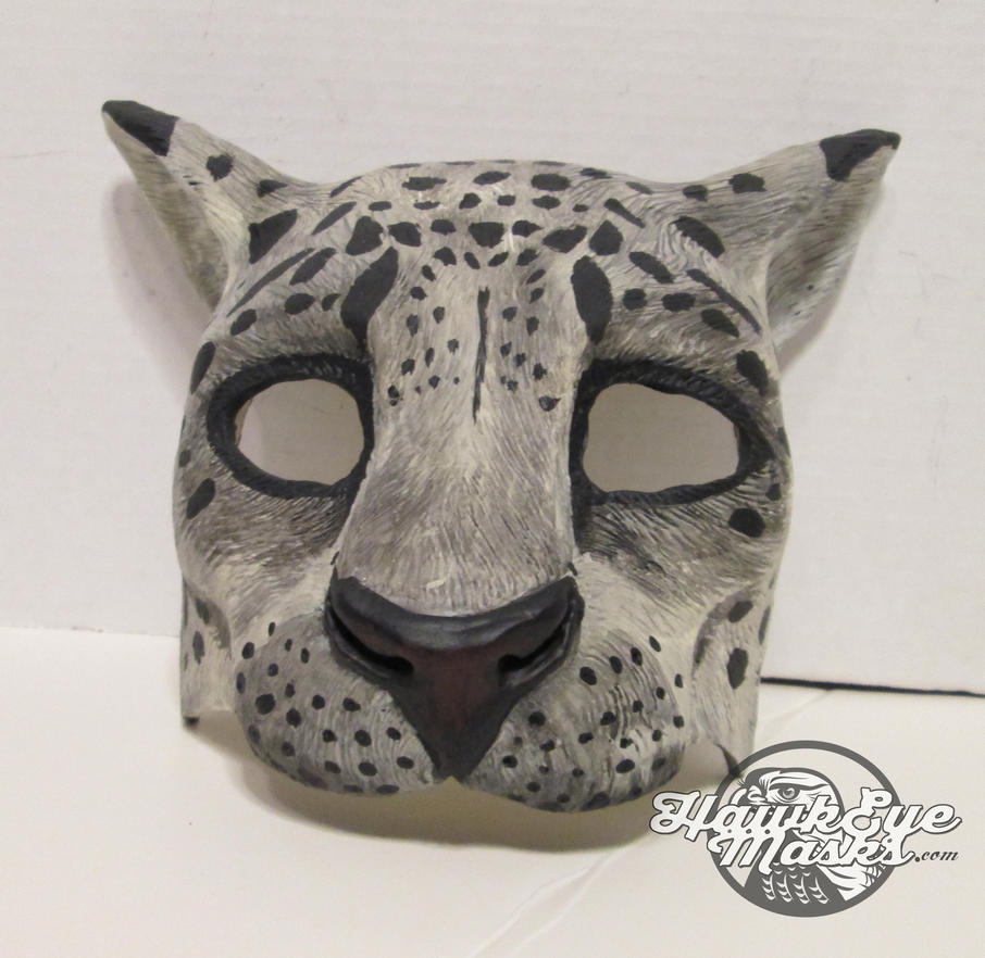 Snow Leopard mask by JenniferStedmanArt