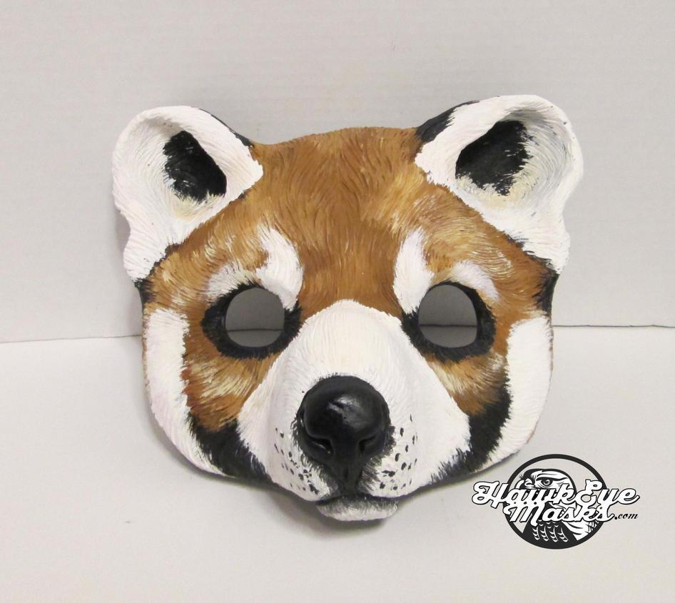Red Panda Bear mask by JenniferStedmanArt