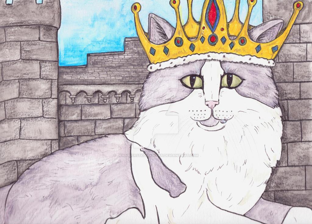 King Cat fantasy art by JenniferStedmanArt