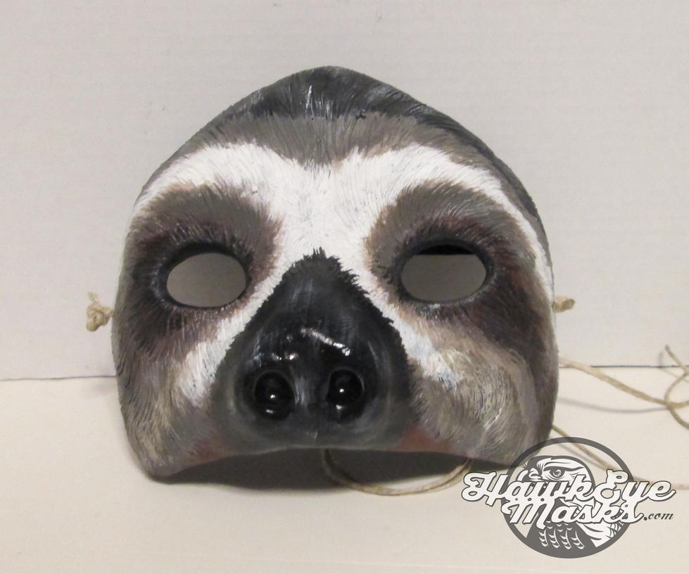 Three Toed Sloth costume mask by JenniferStedmanArt