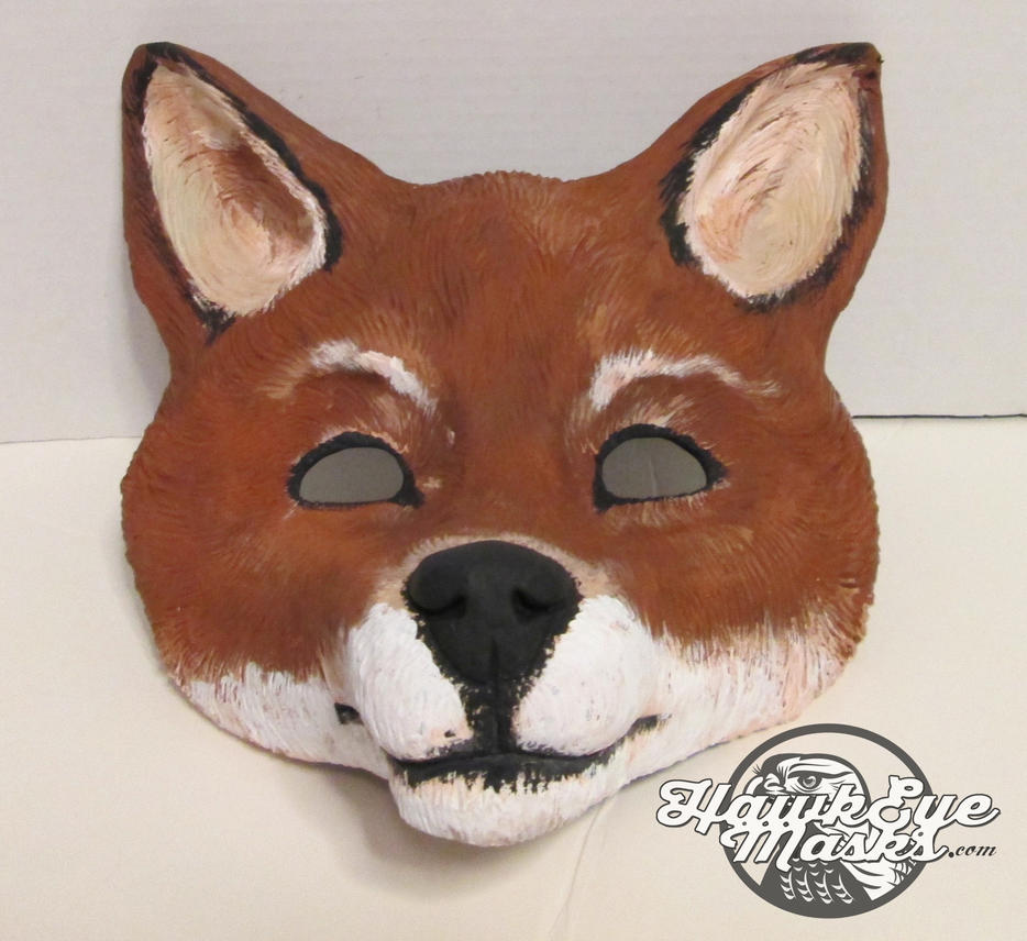 Whimsical Costume Fox Mask by JenniferStedmanArt