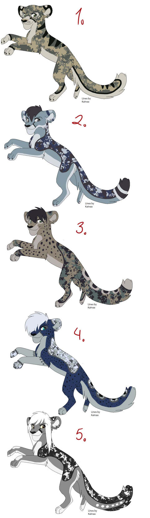 Military Cheetah Adoptables (closed) by iheartart132