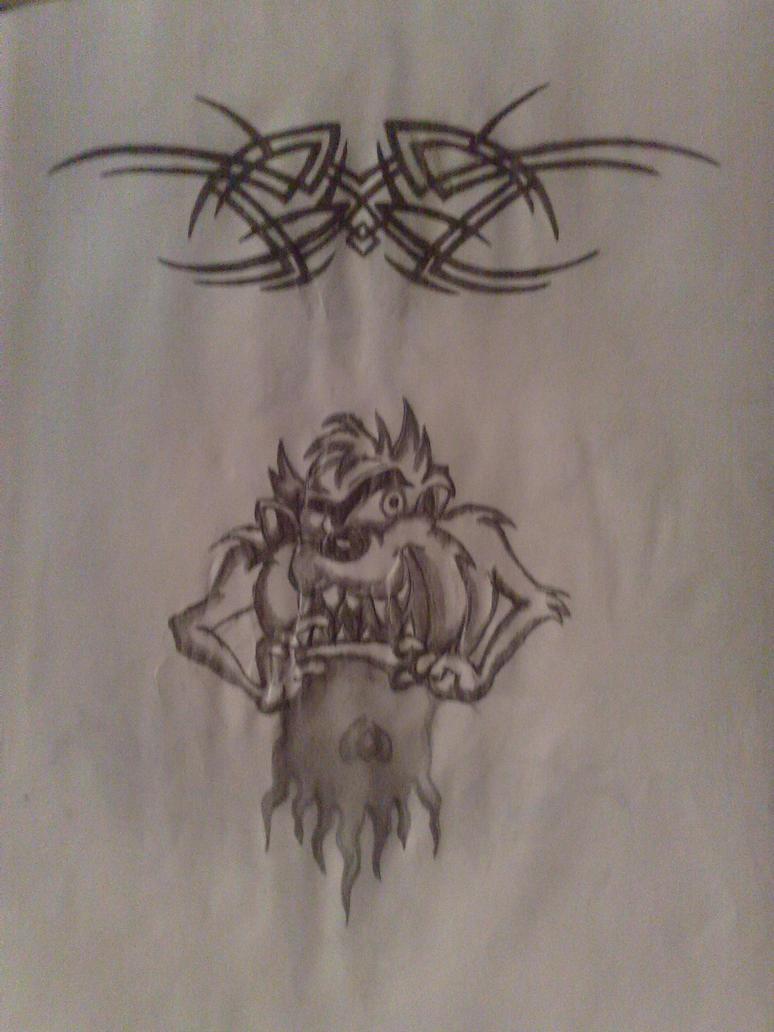 tasmanian devil tattoo by ervinlosonc on deviantart. Black Bedroom Furniture Sets. Home Design Ideas