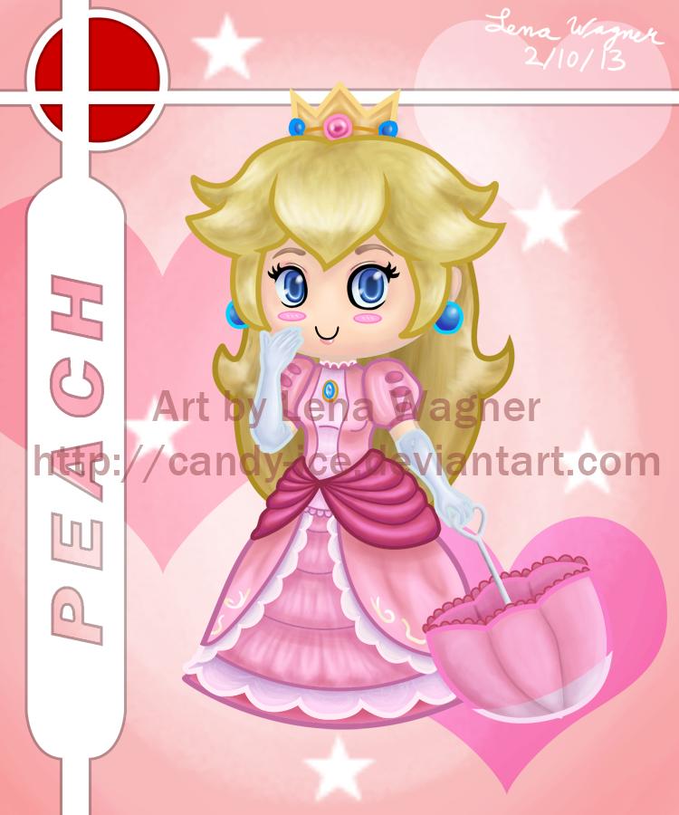Brawl Chibis - Peach by Candy-Ice