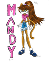 Mandy the Cat :Colored: by Candy-Ice