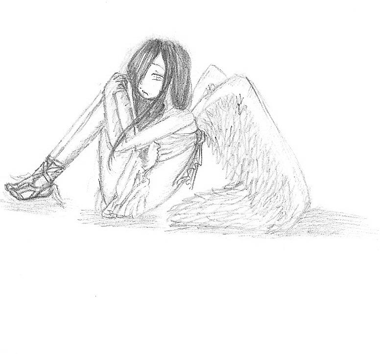 Sad Angel Drawing Sad Angel by