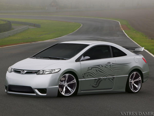 honda civic tuning by damirchek on deviantart. Black Bedroom Furniture Sets. Home Design Ideas