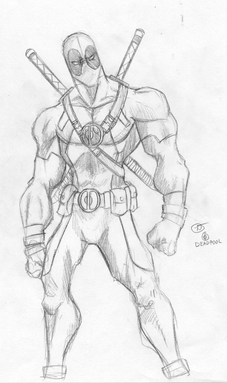 Sketch Deadpool By Deadpooleyo On DeviantArt