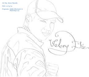 Valery Ike Line Art Portrait