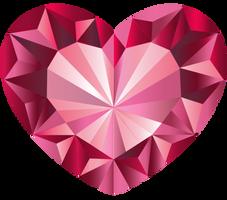 Pink Crystal Heart Vector 1
