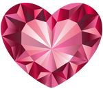 Pink Crystal Heart Vector 1