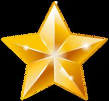 Golden Star Vector 1