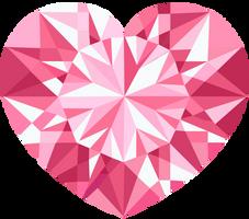 Pink Crystal Heart Vector 2