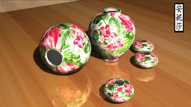 Painted Flower Vase 1