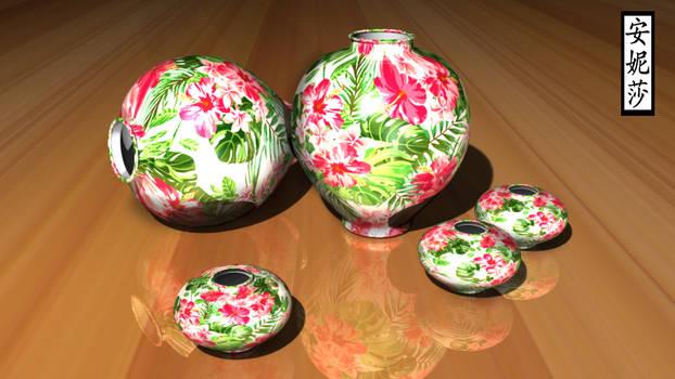 Painted Flower Vase 2