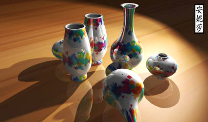 3D Abstract Vases 1